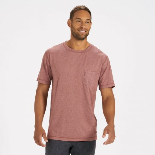 vuori-tradewind-performance-tee-red-clay-heather Available online or in store at assembly88 men's shop in Allentown, PA