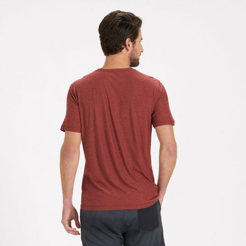 vuori-strato-tech-tee-red-clay-heather Available online or in store at assembly88 men's shop in Allentown, PA
