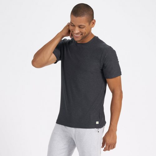 vuori-strato-tech-tee-charcoal-heather Available online or in store at assembly88 men's shop in Allentown, PA
