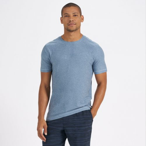 vuori-strato-tech-tee-cloud-heather Available online or in store at assembly88 men's shop in Allentown, PA