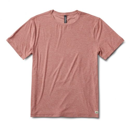 vuori-strato-tech-tee-redwood-heather Available online or in store at assembly88 men's shop in Allentown, PA