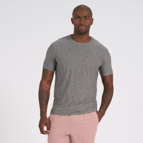 vuori-strato-tech-tee-heather-grey-men's-tee Available online or in store at assembly88 men's shop in Allentown, PA