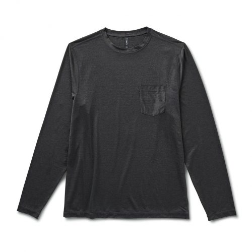 vuori-long-sleeve-tradewind-performance-tee-black-heather Available online or in store at assembly88 men's shop in Allentown, PA