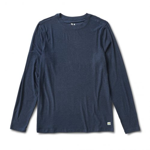 vuori-long-sleeve-strato-tech-tee-navy-heather Available online or in store at assembly88 men's shop in Allentown, PA