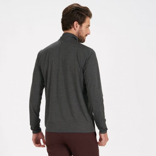 vuori-ease-performance-half-zip-charcoal-heather Available online or in store at assembly88 men's shop in Allentown, PA