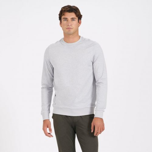 vuori-ponto-performance-crew-platinum-heather Available online or in store at assembly88 men's shop in Allentown, PA