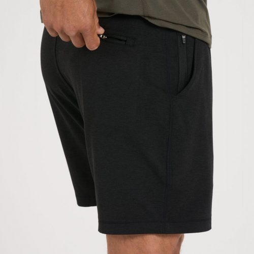 vuori-ponto-short-black-heather Available online or in store at assembly88 men's shop located in Allentown, PA