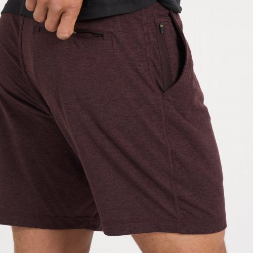 vuori-ponto-short-oxblood-heather Available online or in store at assembly88 men's shop located in Allentown, PA