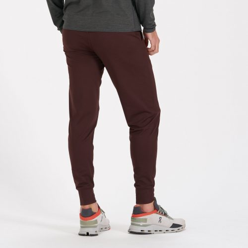 vuori-sunday-performance-jogger-oxblood Available online or in store at assembly88 men's shop in Allentown, PA