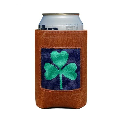 smathers-branson-shamrock-needlepoint-can-cooler Available online or in store at assembly88 men's shop in Allentown, PA