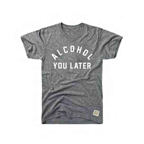 Retro Brand Alcohol You Later Tri-Blend Tee Streaky Grey