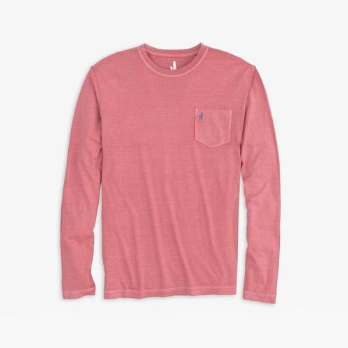 johnnie-O Brennan Long Sleeve T-Shirt Malibu Red