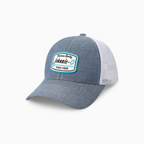 johnnie-o-the-deck-trucker-hat-light-blue Available online or in store at assembly88 men's shop in Allentown, PA