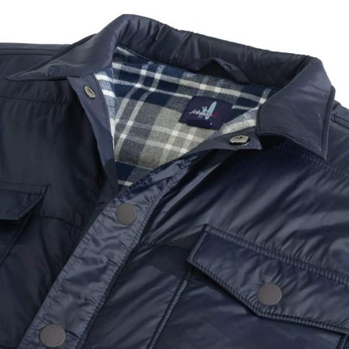 johnnie-O Watford Snap Front Nylon Shirt Jacket Wake