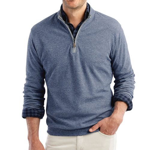johnnie-o-sully-1-4-zip-pullover-indigo Available online or in store at assembly88 men's shop in Allentown, PA