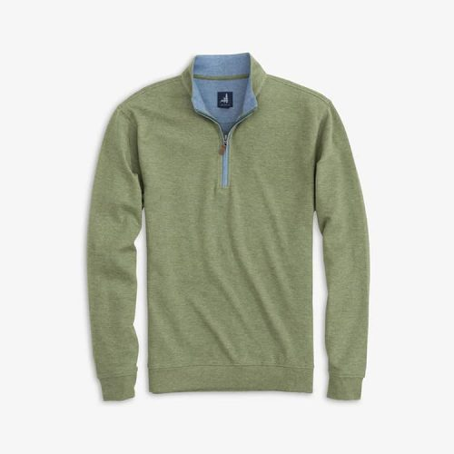 johnnie-O Sully 1/4 Zip Casual Pullover Sage