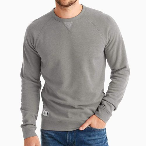 johnnie-O Pamlico Raglan Sleeve sweatshirt Dark and Stormy mens casual sweatshirt