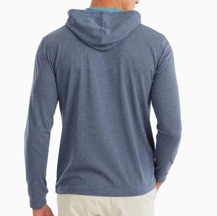 johnnie-o-gunnar-striped-long-sleeve-hooded-t-shirt for sale online or instore at assembly88 men's store in Allentown, PA.