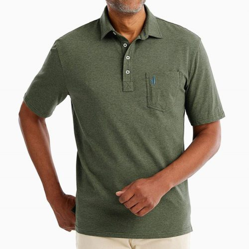 johnnie-o-heathered-original-polo-pine Available online or in store at assembly88 men's shop in Allentown, PA