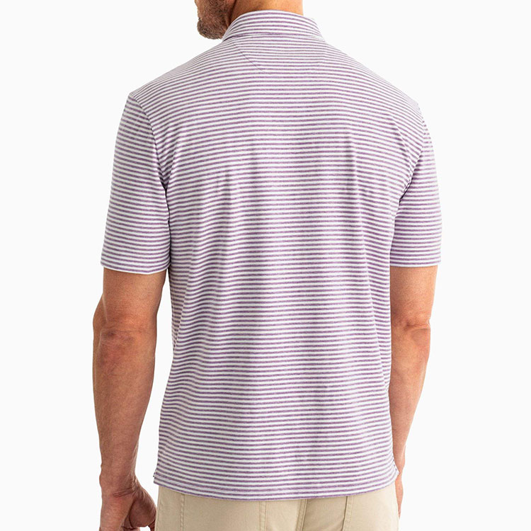 johnnie-o-dante-stripe-polo-aster-men's-polo Available online or in store at assembly88 men's shop in Allentown, PA