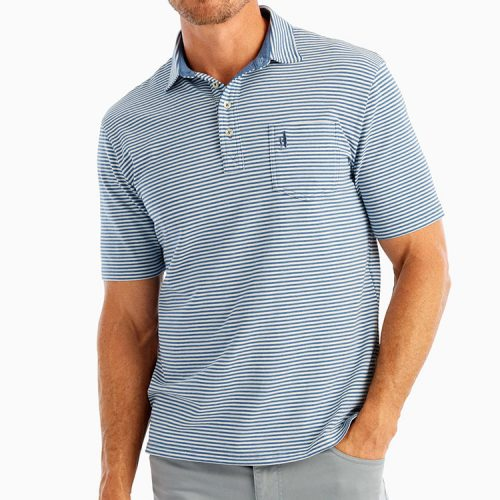 johnnie-o-dante-stripe-polo-oceanside Available online or in store at assembly88 men's shop in Allentown, PA