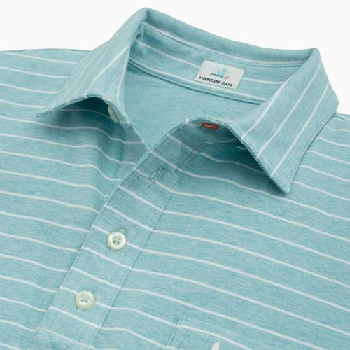 johnnie-o-the-original-4-button-polo-neese-stripe-barbados-blue Available online or in store at assembly88 men's shop in Allentown, PA