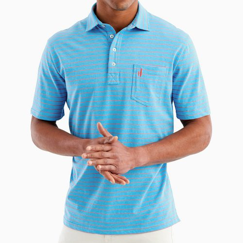 johnnie-o-neese-stripe-polo-marine-mens-polo Available online or in store at assembly88 men's shop in Allentown, PA