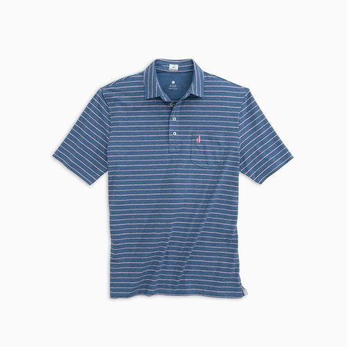 johnnie-o-the-original-4-button-polo-neese-stripe-oceanside Available online or in store at assembly88 men's shop in Allentown, PA