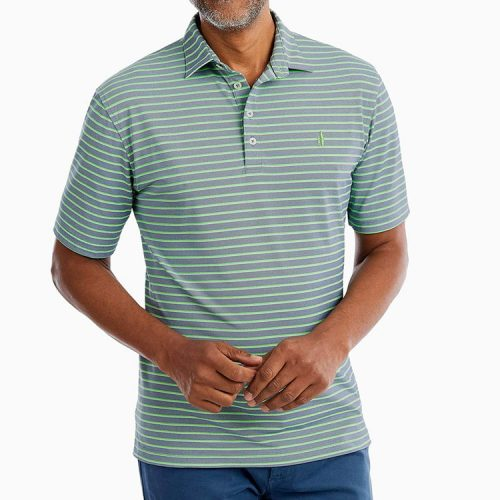 johnnie-o-mcmann-striped-prep-formance-pique-polo-twilight Available online or in store at assembly88 men's shop in Allentown, PA