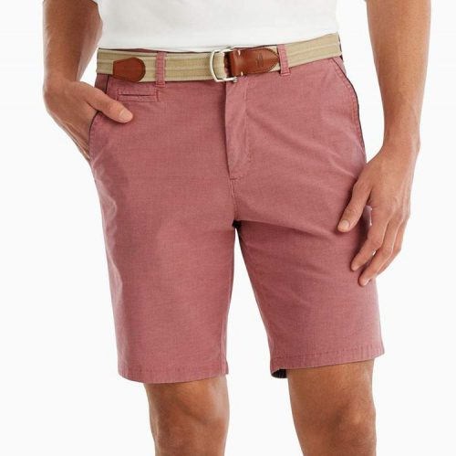 johnnie-o-reyes-washed-stretch-twill-short-malibu-red Available online or in store at assembly88 men's shop in Allentown, PA