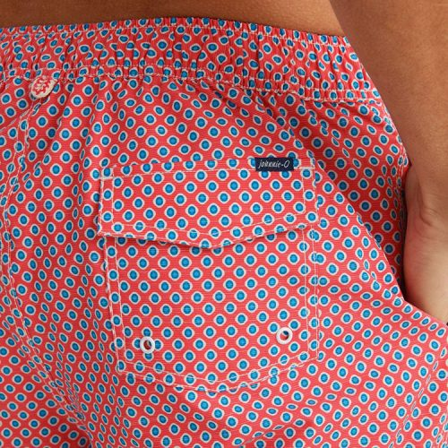 johnnie-o-karratha-half-elastic-swimtrunk-coral-reef Available online or in store at assembly88 men's shop in Allentown, PA