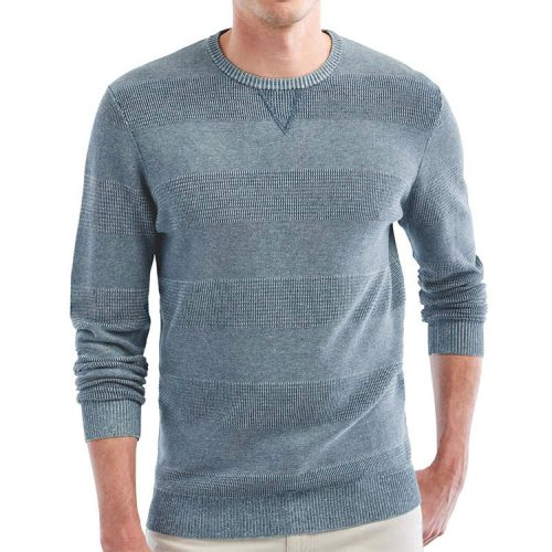 johnnie-o-hester-crewneck-sweater-chambray Available online or in store at assembly88 men's shop in Allentown, PA