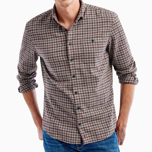johnnie-o-dickens-sport-shirt-malibu-red Available online or in store at assembly88 men's shop in Allentown, PA