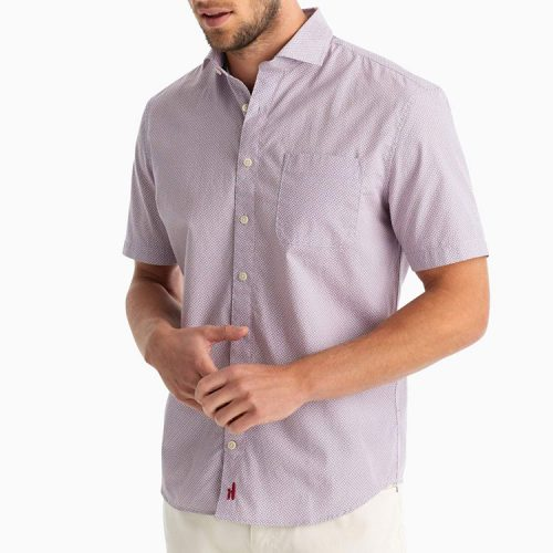 johnnie-o-reading-hangin-out-cut-away-collar-short-sleeve-shirt-strawberry Available online or in store at assembly88 in Allentown, PA