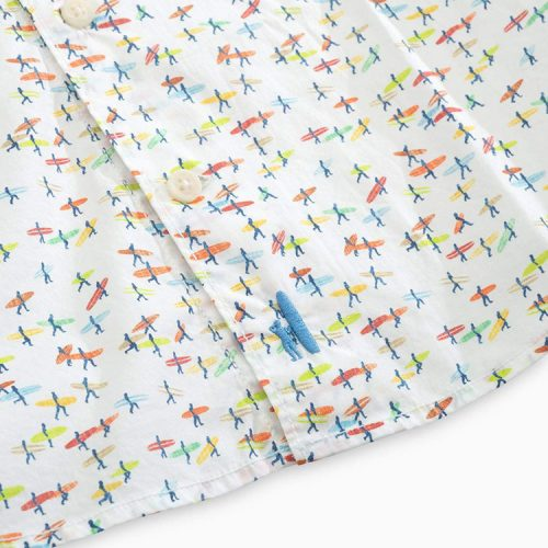johnnie-o-stampede-printed-hangin-out-short-sleeve-shirt-white Available online or in store at assembly88 men's shop in Allentown, PA