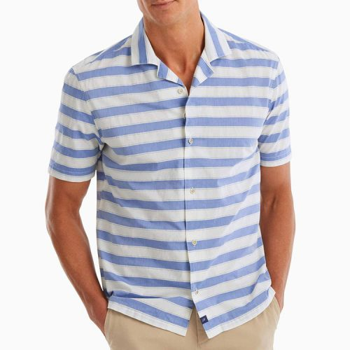 johnnie-o-cabana-short-sleeve-camp-shirt-laguna-blue Available online or in store at assembly88 men's shop in Allentown, PA