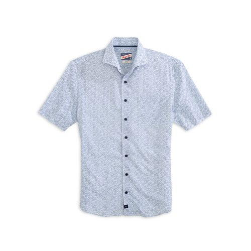 johnnie-o-miguel-printed-hangin-out-short-sleeve-shirt-gulf-blue Available online or in store at assembly88 men's shop in Allentown, PA