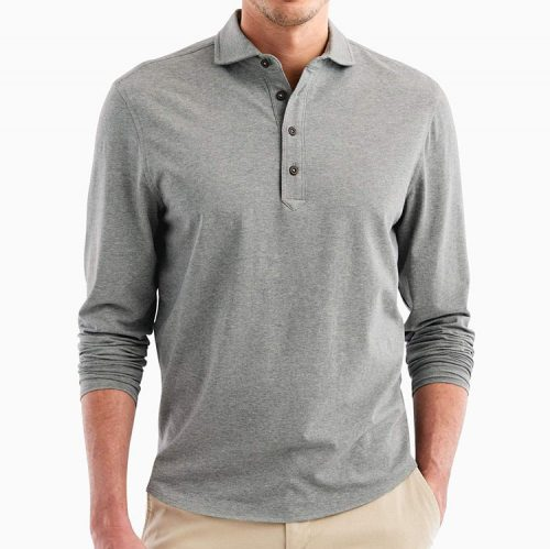 johnnie-o-wylie-polo-gray Available online or in store at assembly88 men's shop located in Allentown, Pennsylvania