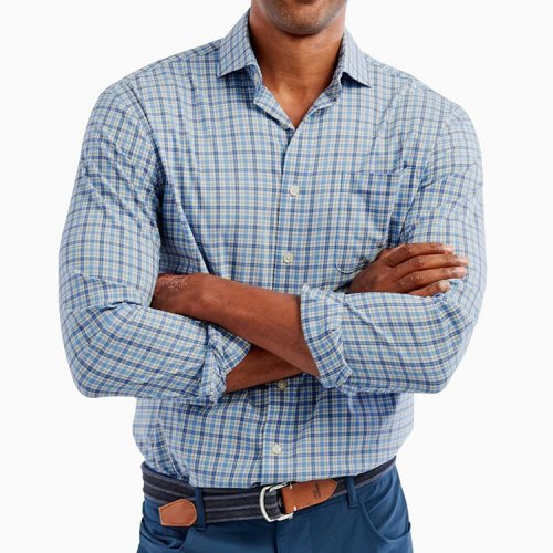 johnnie-o-osage-prep-formance-cutaway-collar-shirt-lake Available online or in store at assembly88 men's shop in Allentown, PA