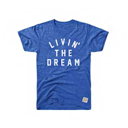 Retro Brand Livin' The Dream Tri-Blend Tee Streaky Royal