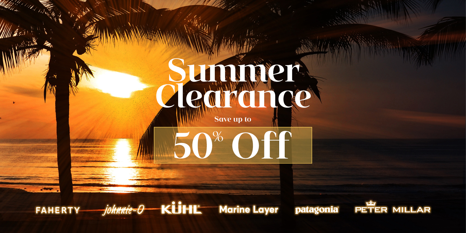 Summer Men's Clothing Clearance Sale