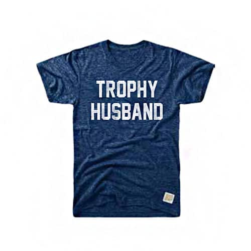 Retro Brand Trophy Husband Tri-Blend Tee Streaky Navy