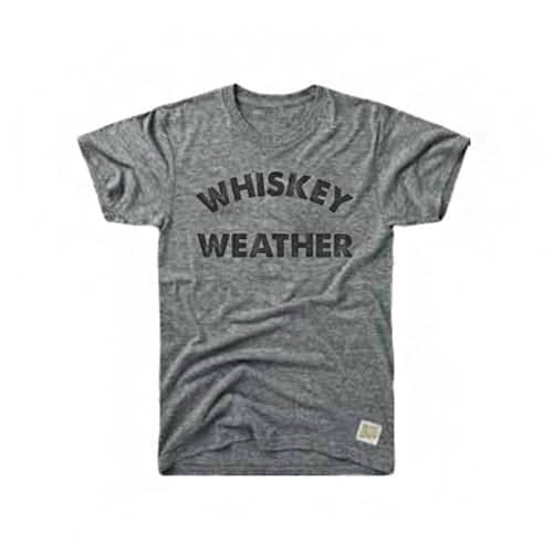 Retro Brand Whiskey Weather Tri-Blend Tee Streaky Grey